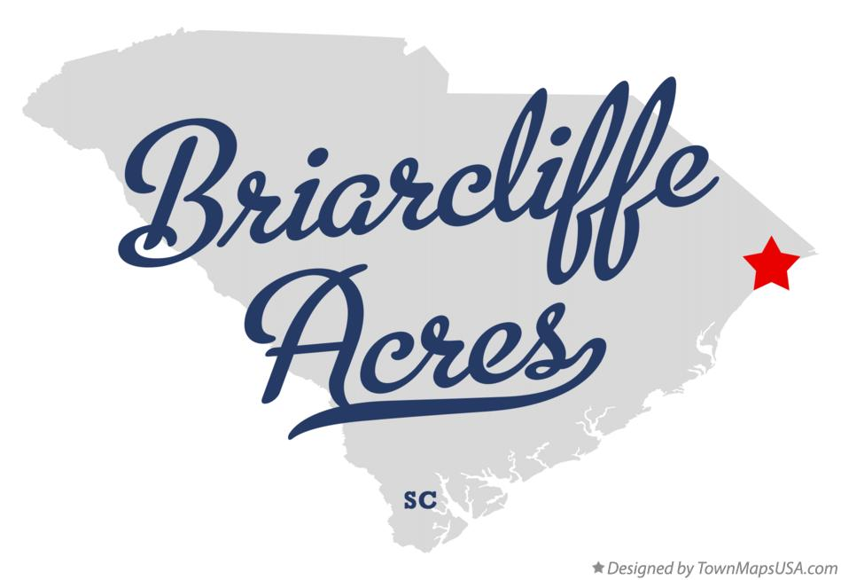 Map of Briarcliffe Acres South Carolina SC