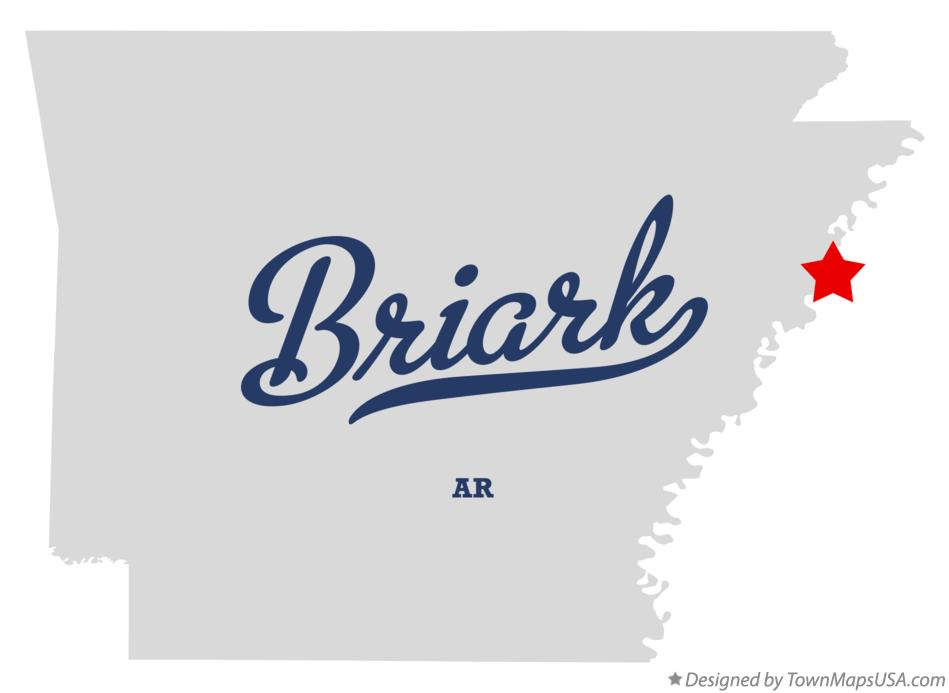 Map of Briark Arkansas AR