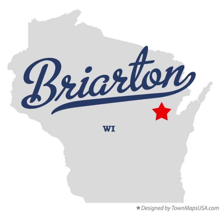 Map of Briarton Wisconsin WI