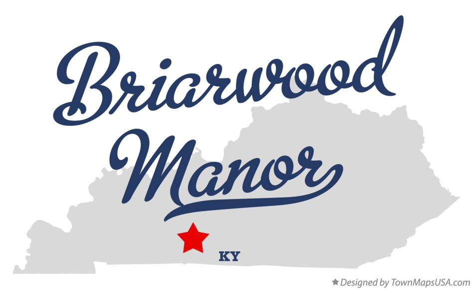 Map of Briarwood Manor Kentucky KY