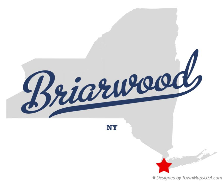 Map of Briarwood New York NY