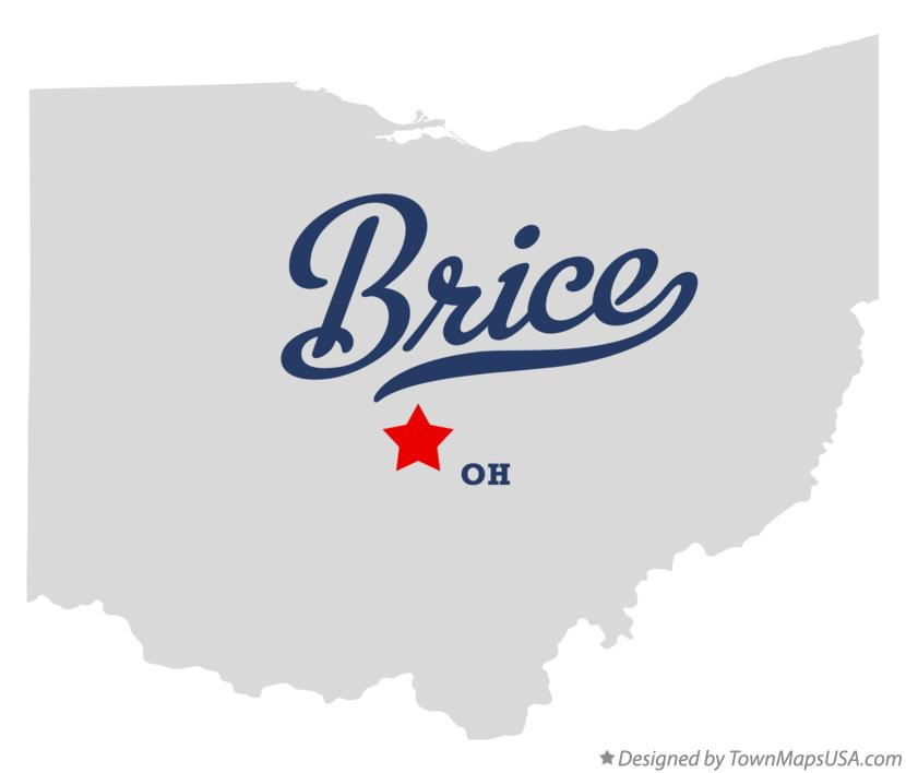 Map of Brice Ohio OH