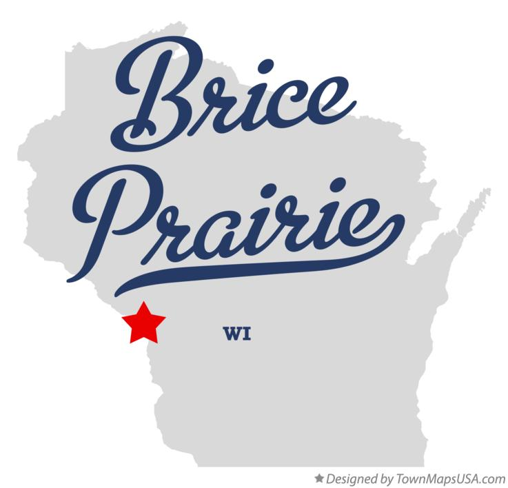 Map of Brice Prairie Wisconsin WI