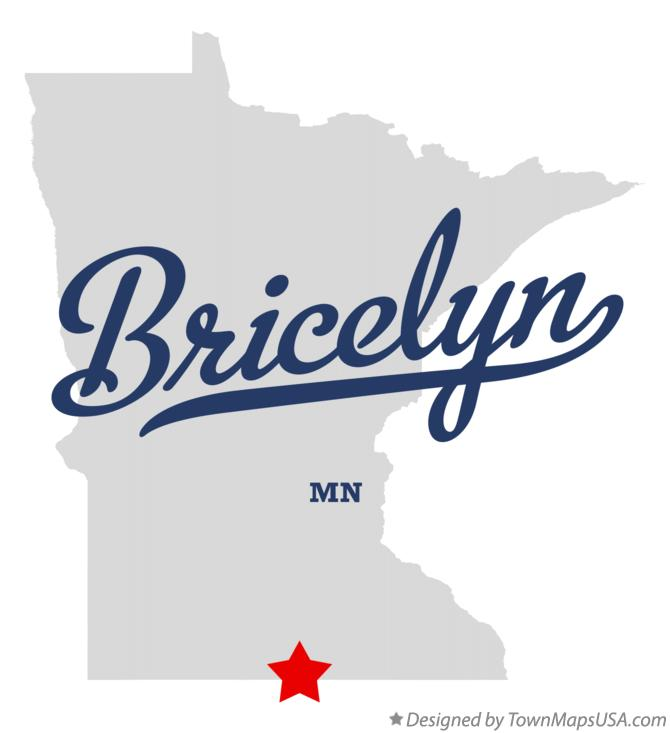 Map of Bricelyn Minnesota MN