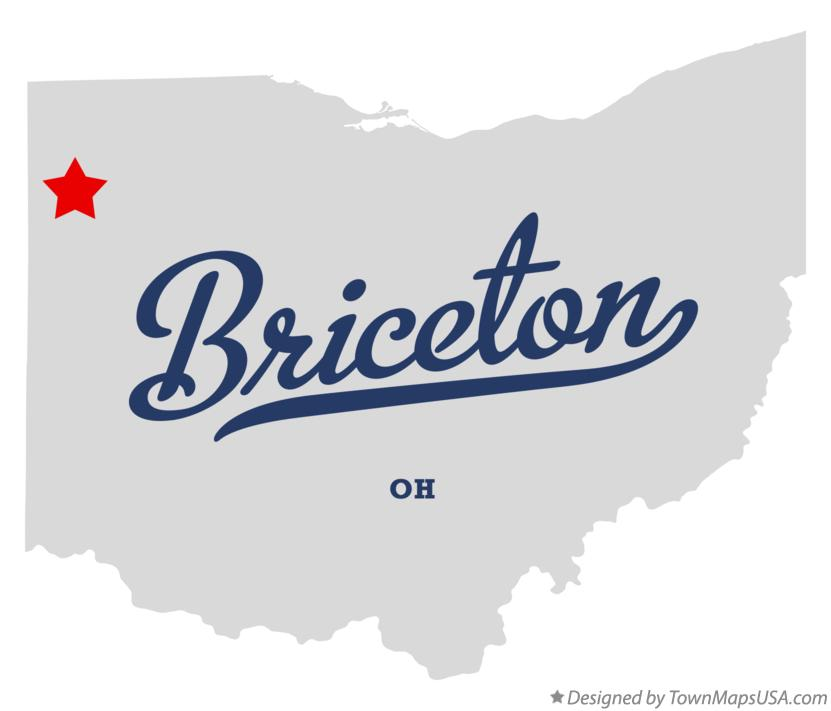 Map of Briceton Ohio OH