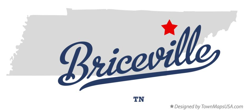 Map of Briceville Tennessee TN