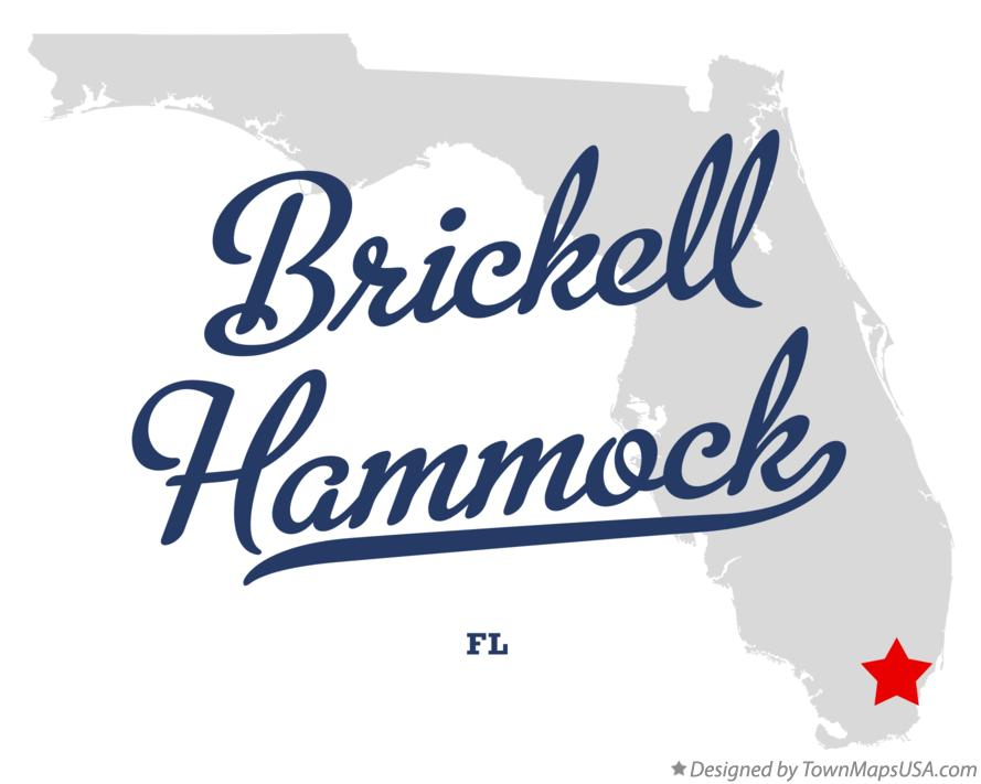 Map of Brickell Hammock Florida FL