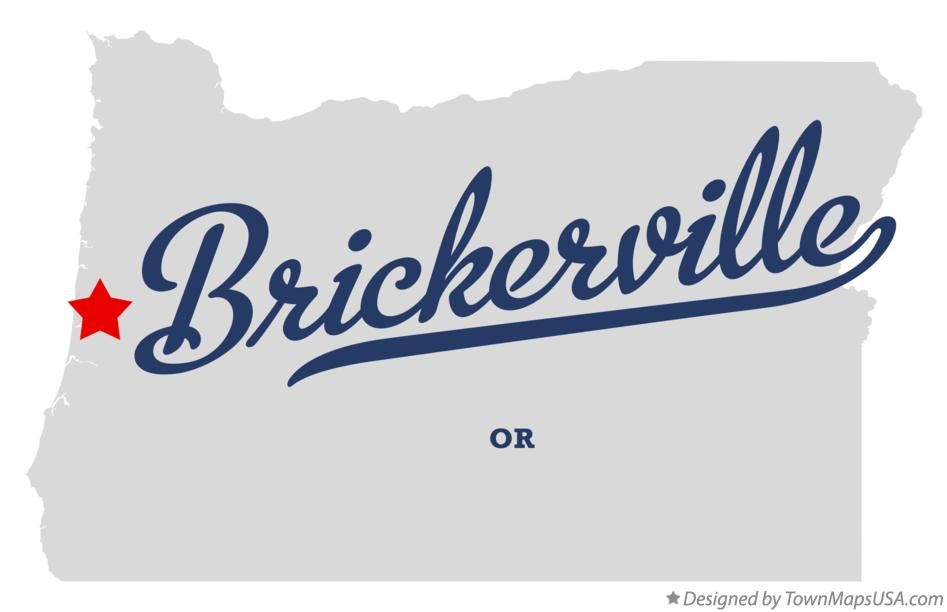 Map of Brickerville Oregon OR