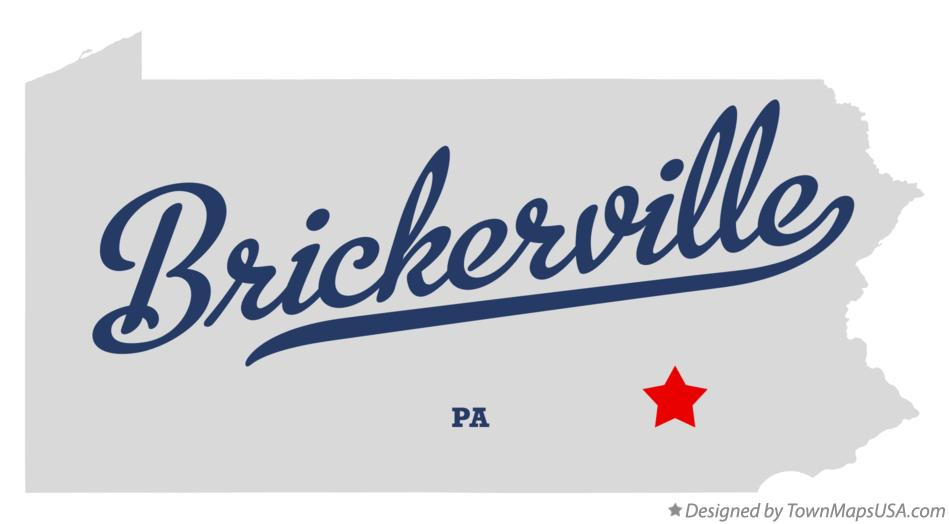 Map of Brickerville Pennsylvania PA