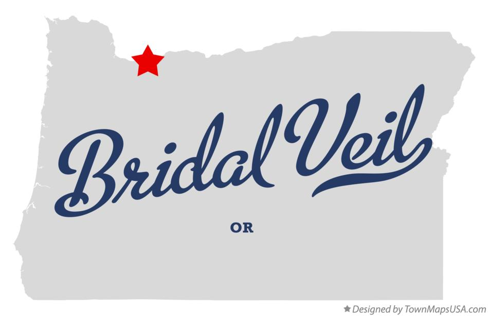 Map of Bridal Veil Oregon OR