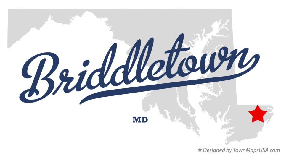 Map of Briddletown Maryland MD