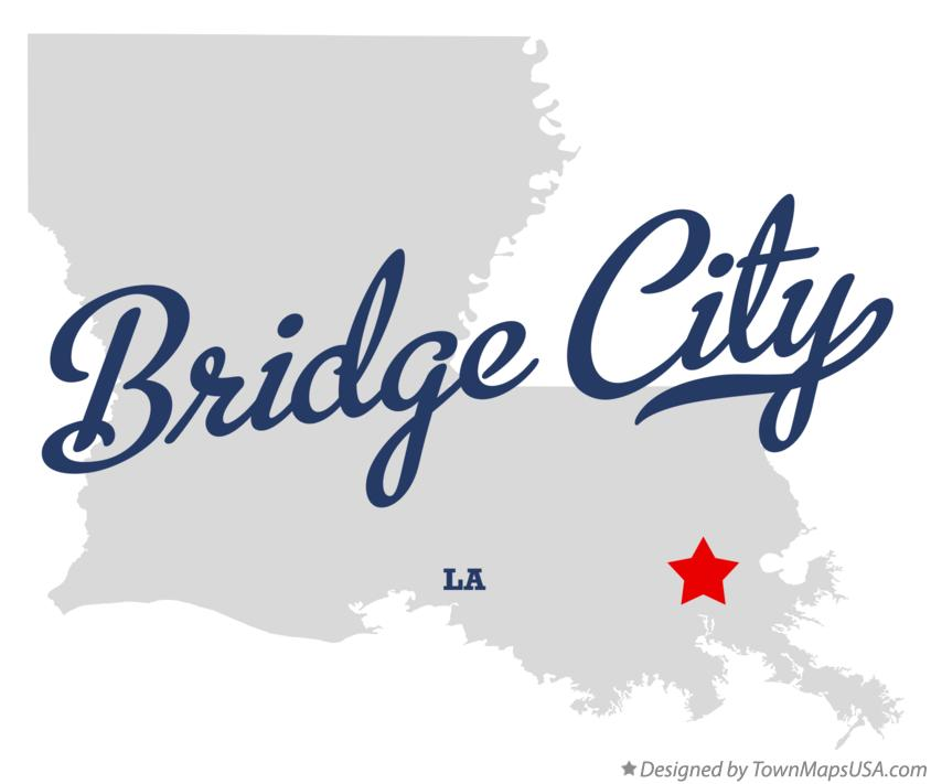 Map of Bridge City Louisiana LA