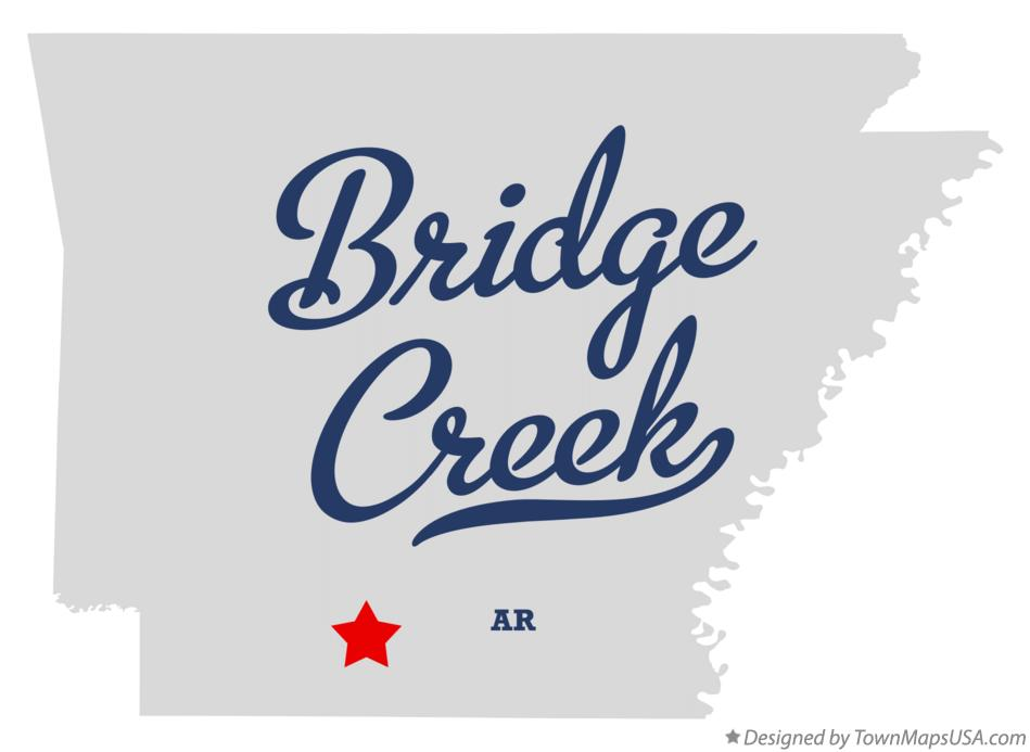 Map of Bridge Creek Arkansas AR