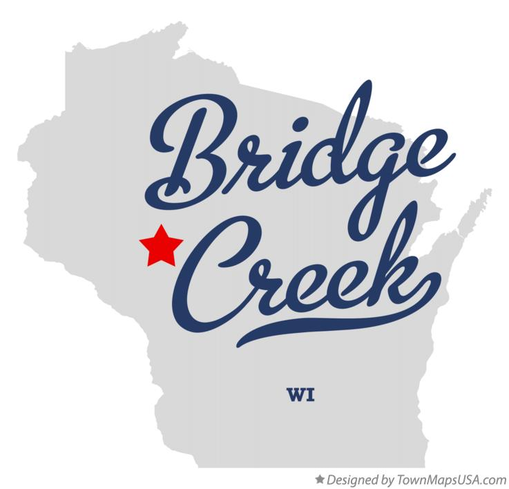 Map of Bridge Creek Wisconsin WI