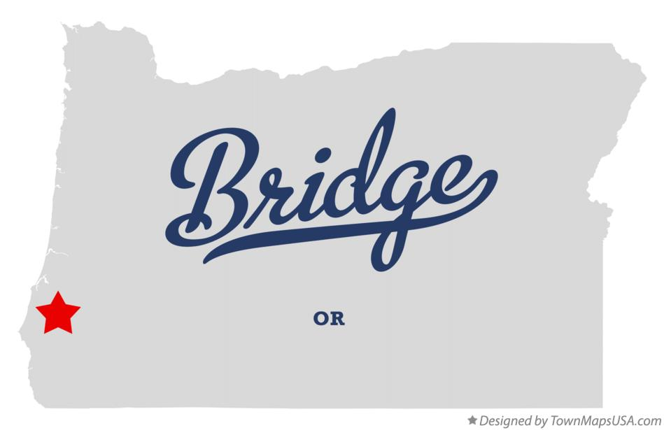 Map of Bridge Oregon OR