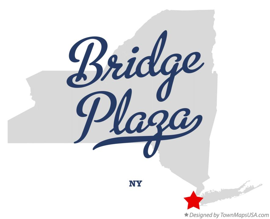 Map of Bridge Plaza New York NY