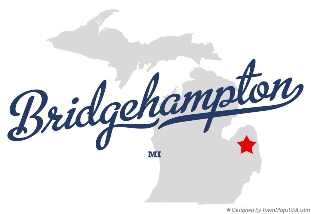 Map of Bridgehampton Michigan MI