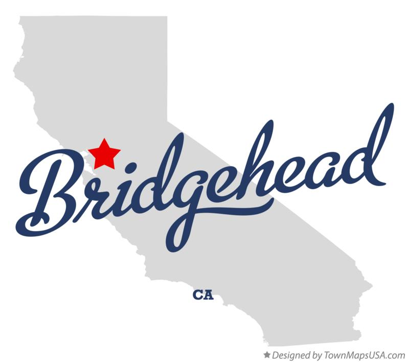 Map of Bridgehead California CA