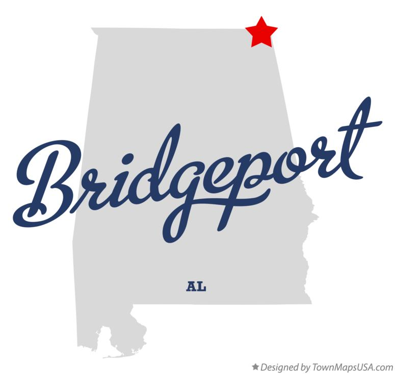Map of Bridgeport Alabama AL