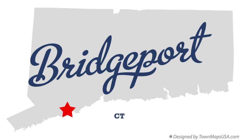 Map of Bridgeport Connecticut CT
