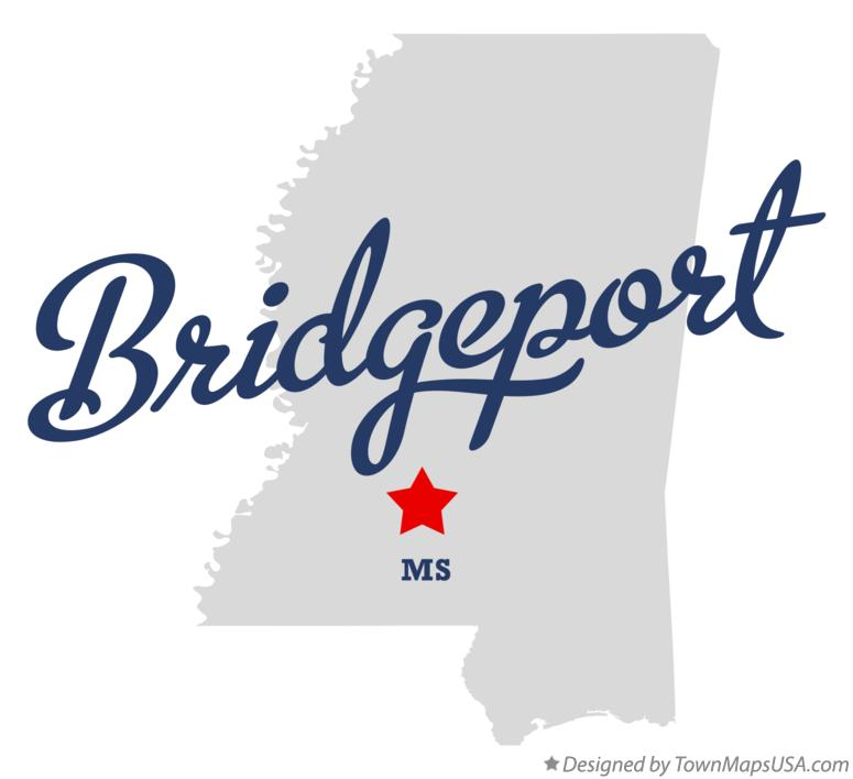 Map of Bridgeport Mississippi MS