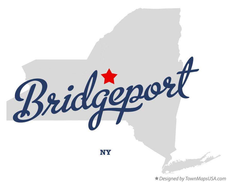 Map of Bridgeport New York NY