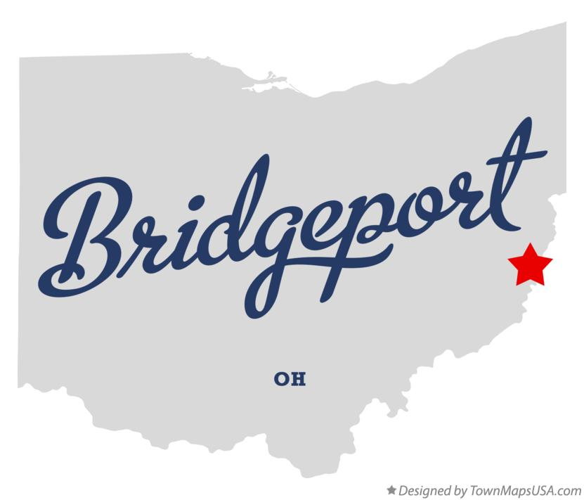 Map of Bridgeport Ohio OH