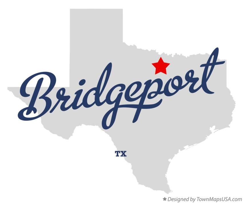 Map of Bridgeport Texas TX