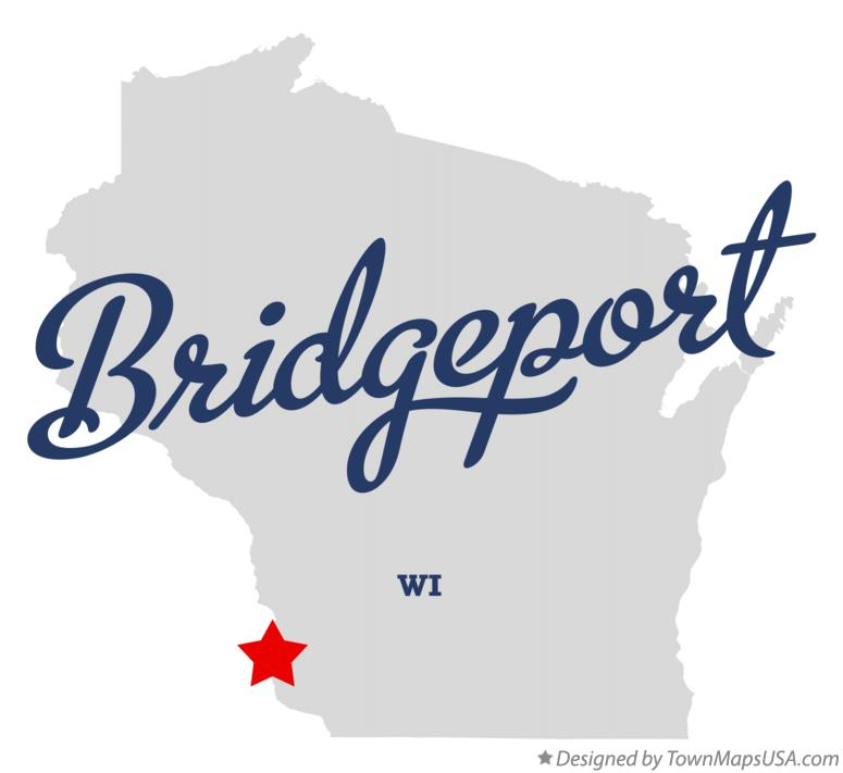 Map of Bridgeport Wisconsin WI