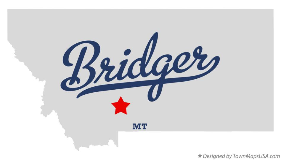 Map of Bridger Montana MT