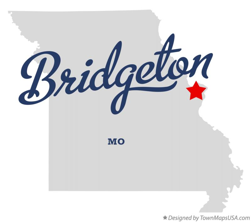 Map of Bridgeton Missouri MO