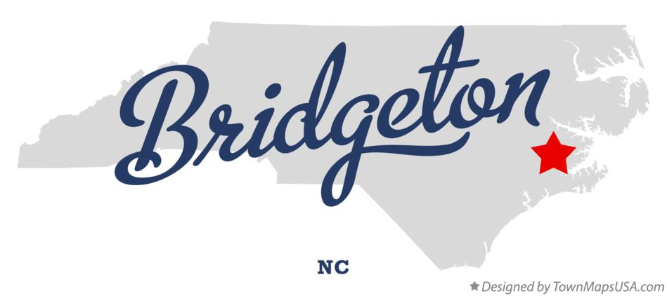 Map of Bridgeton North Carolina NC