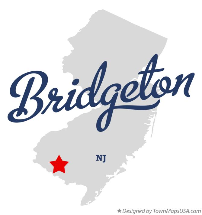 Map of Bridgeton New Jersey NJ