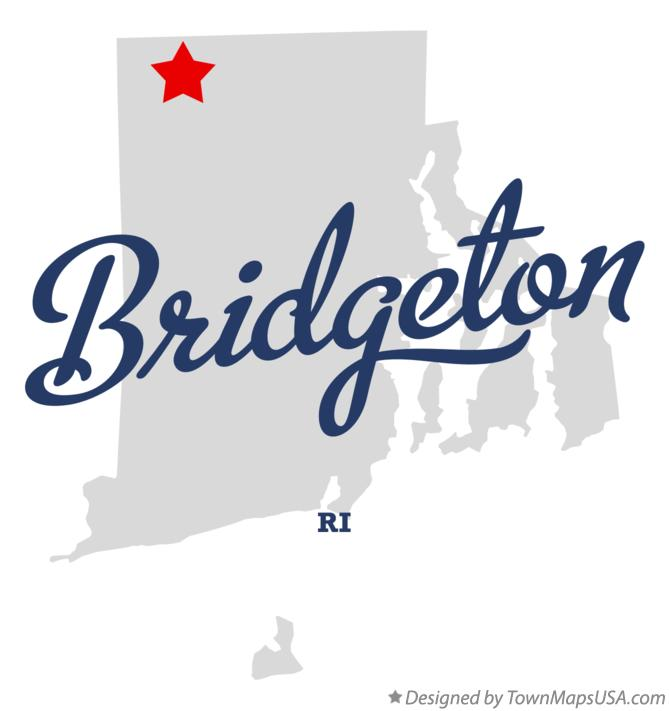 Map of Bridgeton Rhode Island RI
