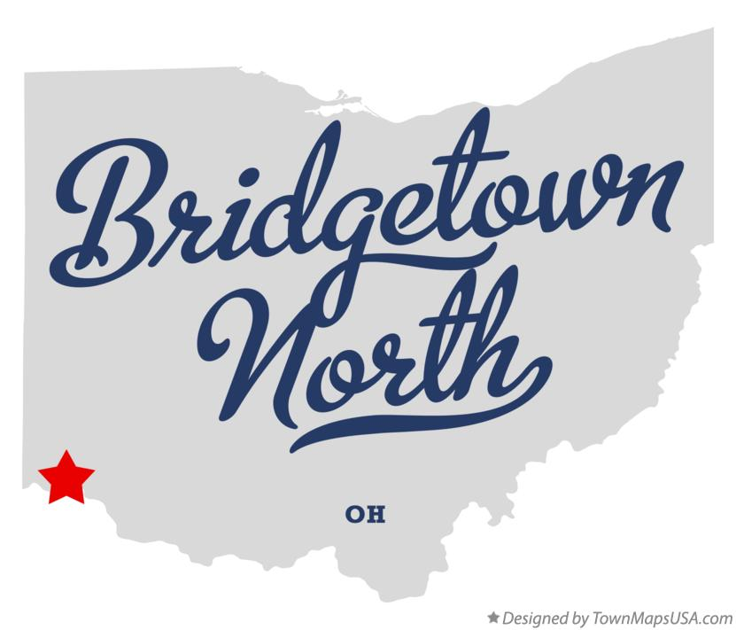 Map of Bridgetown North Ohio OH