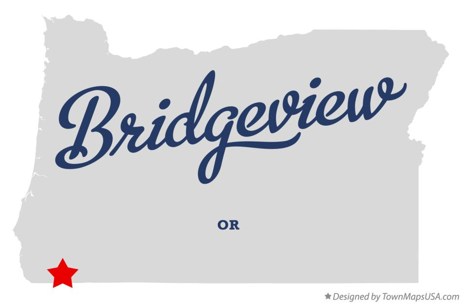 Map of Bridgeview Oregon OR