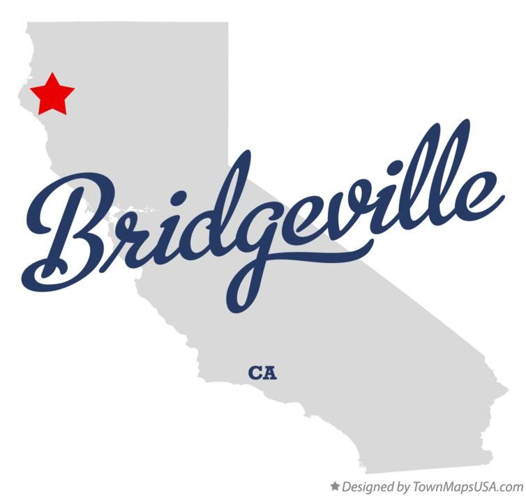 Map of Bridgeville California CA