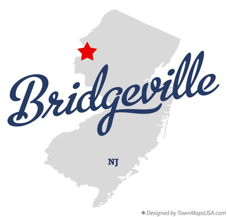 Map of Bridgeville New Jersey NJ