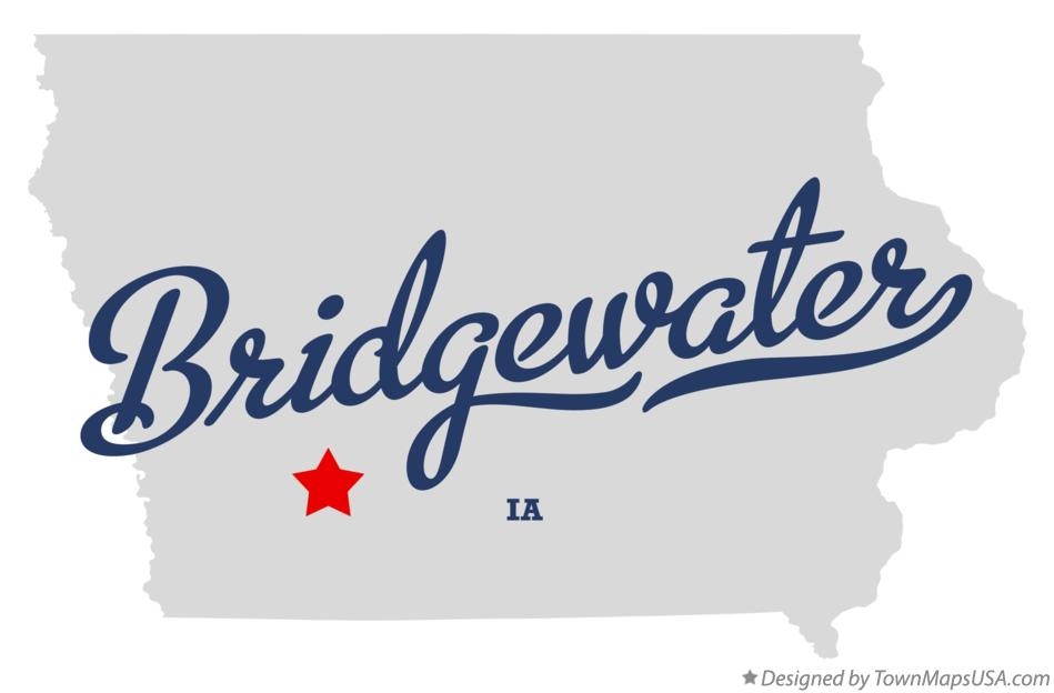 Map of Bridgewater Iowa IA