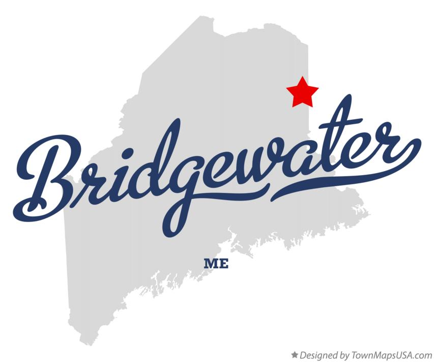 Map of Bridgewater Maine ME