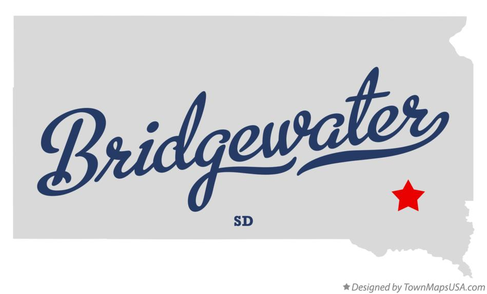 Map of Bridgewater South Dakota SD