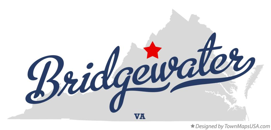 Map of Bridgewater Virginia VA