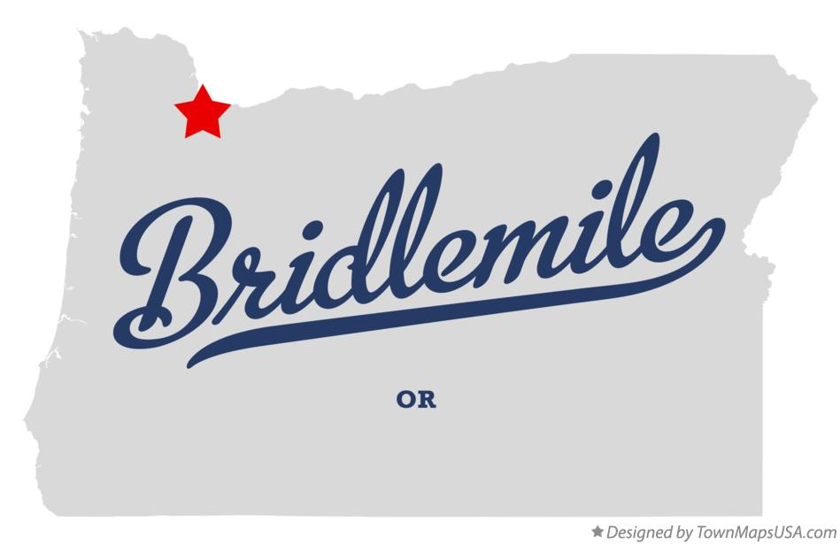 Map of Bridlemile Oregon OR