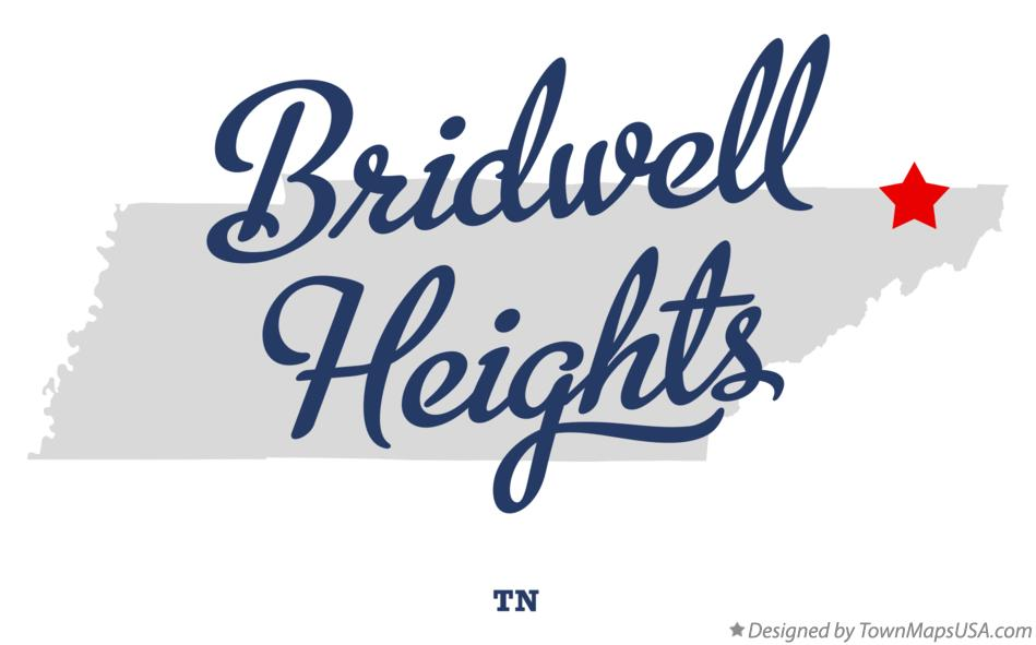 Map of Bridwell Heights Tennessee TN