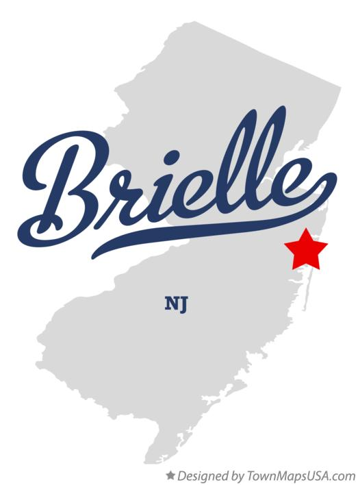 Map of Brielle New Jersey NJ
