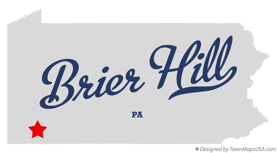Map of Brier Hill Pennsylvania PA