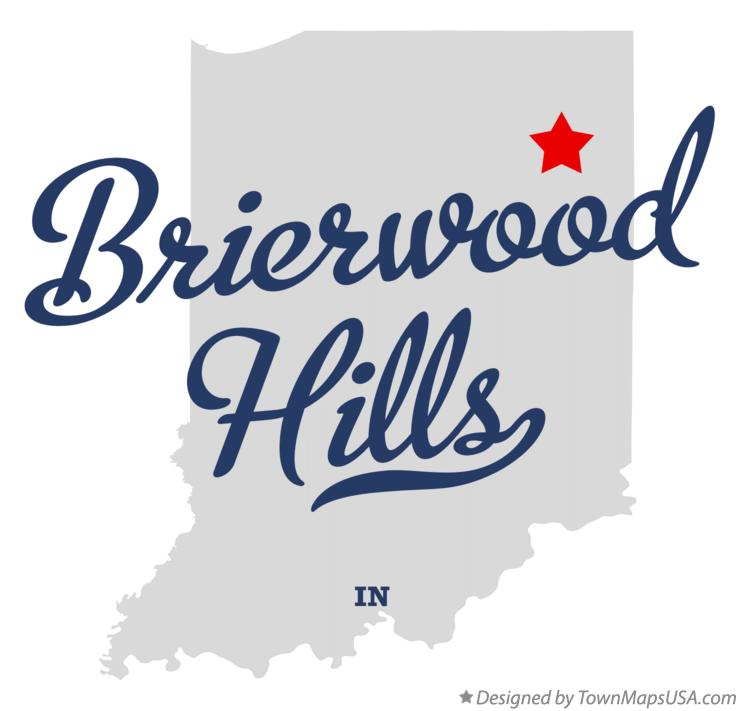 Map of Brierwood Hills Indiana IN