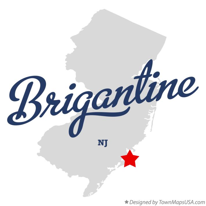 Map of Brigantine New Jersey NJ
