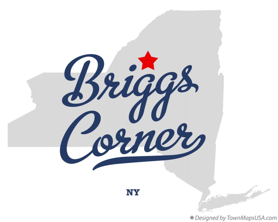 Map of Briggs Corner New York NY