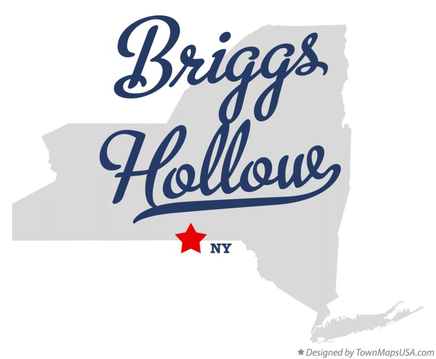 Map of Briggs Hollow New York NY